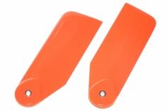 Ninja 3D Heckrotorblätter aus carbon in reinem neon orange 80mm für 500er Helis
