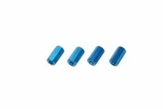 Abstandshalter M3 aus Alu in blau 4 Stück 10mm