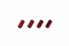 Abstandshalter M3 aus Alu in rot 4 Stück 10mm
