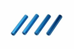 Abstandshalter M3 aus Alu in blau 4 Stück 30mm