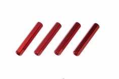 Abstandshalter M3 aus Alu in rot 4 Stück 30mm