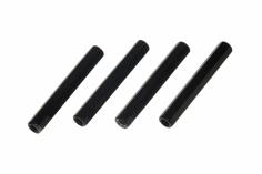 Abstandshalter M3 aus Alu in schwarz 4 Stück 35mm