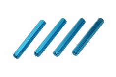 Abstandshalter M3 aus Alu in blau 4 Stück 40mm