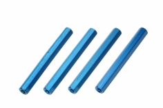 Abstandshalter M3 aus Alu in blau 4 Stück 45mm