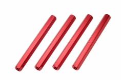 Abstandshalter M3 aus Alu in rot 4 Stück 50mm