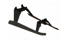 OXY Ersatzteil Landegestell aus Aluminium in schwarz für OXY3 Tareq Edition