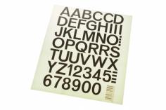 Aufkleber Zahlen und Buchstaben 25mm