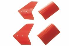 EC135 Seitenleitwerk in rot für 450er