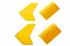 EC135 Seitenleitwerk in gelb für 450er