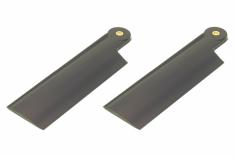 HeliTec der Blattschmied Scale Heckrotorblätter 2Blatt in dunkel grau 75mm