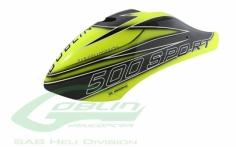Kabinenhaube voll carbon in  gelb/schwarz für den Goblin 500 Sport