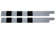 HeliTec der Blattschmied Scale Hauptrotorblätter 2Blatt in weiß schwarz 700mm