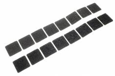 Klettquadrate Fastech selbstklebend 8 Sets eckig 20x20mm
