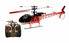 RC Heli MT250 Lama Single Rotor Heli 4 Kanal, Sender einstellbar auf Mode 1- 4