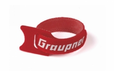 Graupner Klett-Kabelbinder in rot 300mm 10 Stück