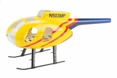 250er Scale Rumpf Hughes MD500D gelb für Align T-REX 250