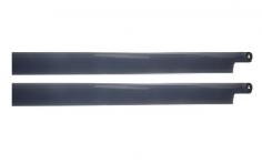 HeliTec der Blattschmied Scale Hauptrotorblätter 2Blatt in dunkelgrau 435mm