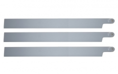 HeliTec der Blattschmied Scale Hauptrotorblätter 3Blatt in licht grau 600mm