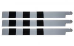 HeliTec der Blattschmied Scale Hauptrotorblätter 3Blatt in licht grau GS 600mm