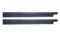 HeliTec der Blattschmied Scale Hauptrotorblätter 2Blatt in dunkelgrau 600mm