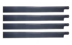 HeliTec der Blattschmied Scale Hauptrotorblätter 4Blatt in dunkel grau 600mm
