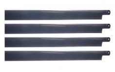 HeliTec der Blattschmied Scale Hauptrotorblätter 4Blatt in dunkel grau 435mm