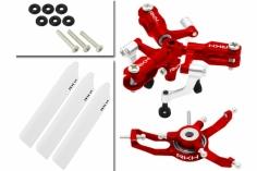 Rakonheli 3 Blatt Rotorkopf-Set in rot für Blade Nano CP S, Nano S2
