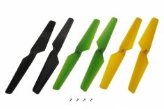 Blade Ersatzteil Zeyrok Propeller-Set gelb/grün/schwarz je 2 Stück