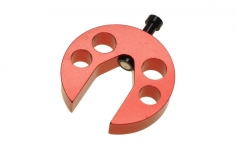 Magnetische Taumelscheiben-Einstellehre für 250er - 450er Helis aus Alu in rot