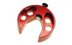 Magnetische Taumelscheiben-Einstellehre für 500er - 700er Helis aus Alu in rot