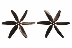 HQ Sechsblatt Propeller Glasfaser verstärkt schwarz 5x4x6 2 Stück cw