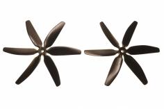 HQ Sechsblatt Propeller Glasfaser verstärkt schwarz 5x4x6 2 Stück ccw