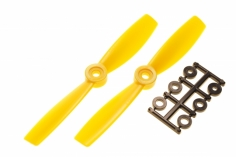 HQ Propeller Bullnose Glasfaser verstärkt gelb 5x4,5 2 Stück ccw