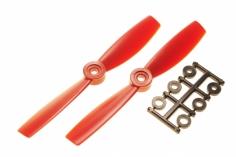 HQ Propeller Bullnose Glasfaser verstärkt rot 5x4,5 2 Stück ccw