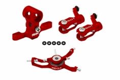 Rakonheli Hauptrotorkopf Set in rot für Blade Nano CPX/CPS