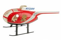 250er Scale Rumpf Hughes MD500D rot für Align T-REX 250