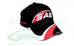 SAB Goblin Schirmkappe Pilot Cap schwarz/rot/weiß