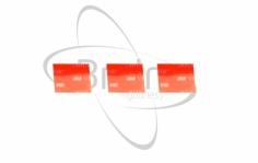 Doppelseitige Klebepads für Brain in rot 3 Stück