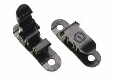 Kufenhalterung für die Wand und den Transport für 5.5mm - 6.5mm Kufen in schwarz