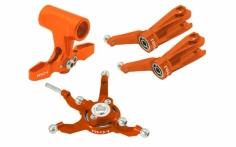 Rakonheli Taumelscheibe und Rotorkopf Set Alu in orange für Blade 230S, 250CFX