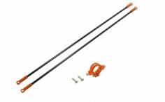 Rakonheli Heckstreben Carbon/Alu in orange für Blade 230s