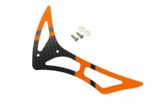 Rakonheli Leitwerk Set aus Carbon in orange für Blade 230s und 250CFX