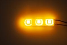 LED Streifen orange mit 5mm LED spritzwassergeschützt für 3S / 12Volt