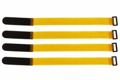 Akkuklettband 300mm in gelb 4 Stück