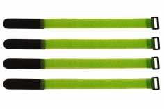 Akkuklettband 300mm in grün 4 Stück