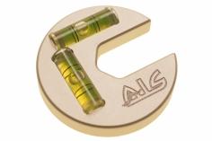 CNC ALU Taumelscheibenlehre mit Wasserwaage 5-12mm