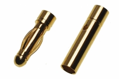 Goldkontaktstecker 3,0mm 1 Paar