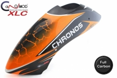 Canomod Kabinenhaube VOLL CARBON im Orange Earthquake Design für Chronos 700