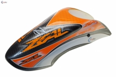 Canomod Kabinenhaube im orange zeal Design für OXY3