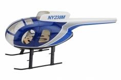 250er Scale Rumpf Hughes MD500D blau grau für Align T-REX 250
